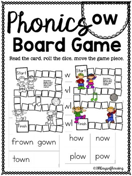 ow plow PHONICS BOARD Game