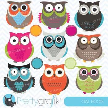 owl clipart commercial use, vector graphics, digital clip art - CL545