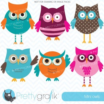 owl clipart commercial use, vector graphics, digital clip art - CL547
