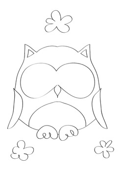 Owl coloring Free F