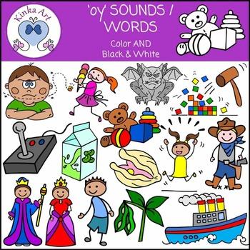 oy Sounds / Words Clip Art