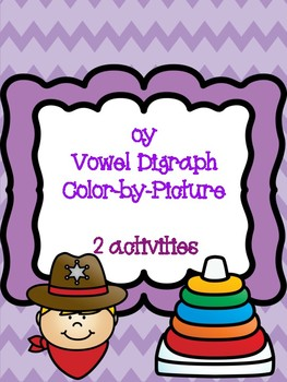oy Vowel Digraph Color-by-Picture