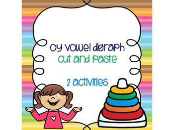 oy Vowel Digraph Cut and Paste