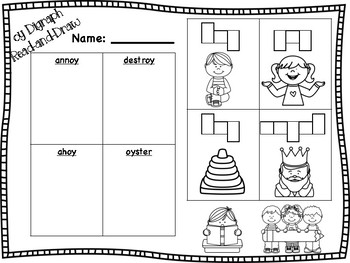 oy Vowel Digraph Read-and-Draw