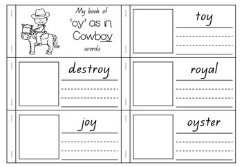 'oy' as in Cowboy - Spelling Activity Packet