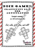 /p/ Articulation Dice Craft - initial, medial, & final