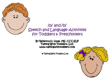 /p/ and /b/ Speech and Language Activities for Toddlers & Preschoolers