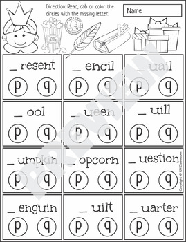 p and q Reversal Worksheets and Activities