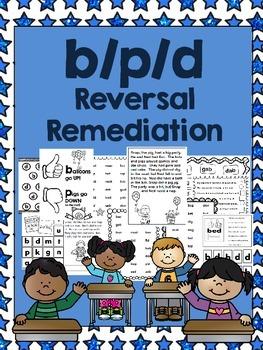 p/b/d Reversal Reading Remediation - 14 Printables