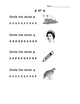 p or q Letter Recognition