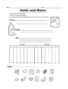 pH Acids and Bases Worksheet by OSEE's Home Schooled ...