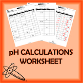 pH Calculation Worksheet