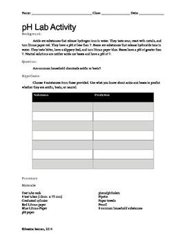 pH Lab Activity - Not Editable