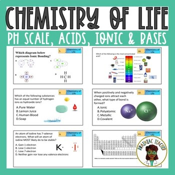 pH Scale, Acids, Bases, Covalent and Ionic Bonding