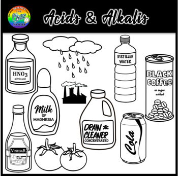 Acid and Alkali (pH Scale) Chemistry Clipart