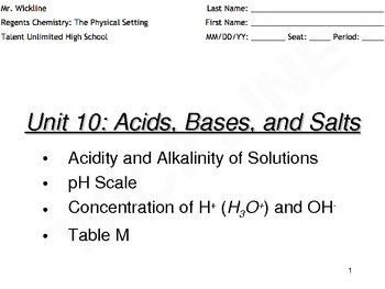 pH Scale and Indicators