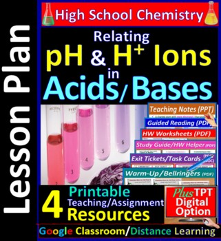 Relating Hydrogen (H+) Ions to pH: Essential Skills Lesson & Worksheet#34