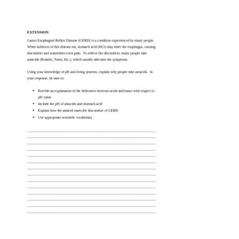pH and homeostasis in Biology: A Lesson Plan