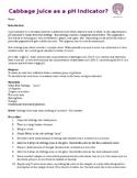 pH indicator lab - red cabbage