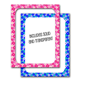 "page borders/product frames with floral pattern// .jpg and .png 8.5""x11"""
