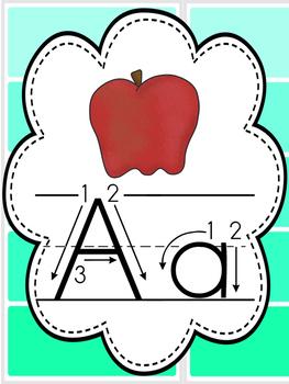 Alphabet Posters paint chip design
