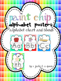 Alphabet Posters paint chip design
