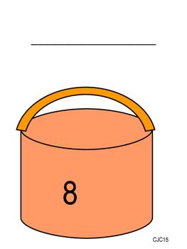 paint pot number cards