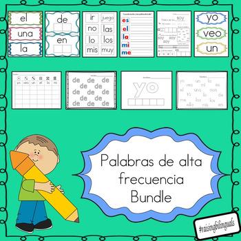 palabras de alta frecuencia bundle (spanish sight words)