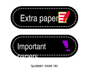 paper collection labels large