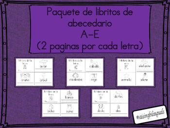 paquete de libro/librito a,b,c,d,e