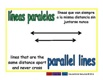 parallel lines/lineas paralelas geom 1-way blue/verde