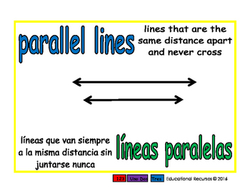 parallel lines/lineas paralelas geom 1-way blue/verde