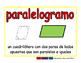 parallelogram/paralelogramo geom 2-way blue/rojo