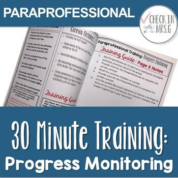 paraprofessional training progress monitoring