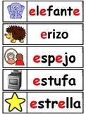 pared de palabras ( Letras Ch Ll rr incluidas)