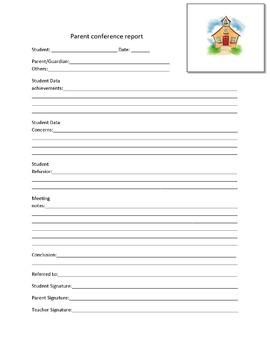 parent conference report