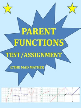 Parent Functions & Translations Test/Assignment (No Prep!)
