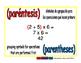 parentheses/parentesis prim 1-way blue/rojo