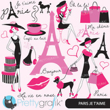 paris fashion clipart for scrapbooking, commercial use, vector graphics - CL556