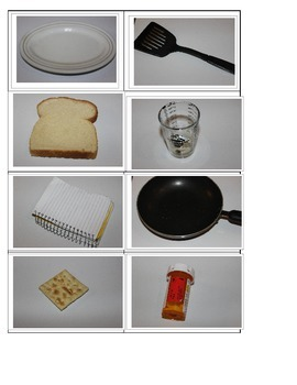 part 1 Functional pictures of everyday items flashcards, name objects/categories