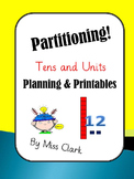 partitioning numbers into tens and units! No prep printables