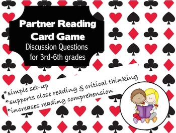 partner reading critical thinking; 4th 5th literacy center; comprehension