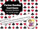 Partner Reading with Purpose 4th 5th Literacy Center Critical Thinking Questions