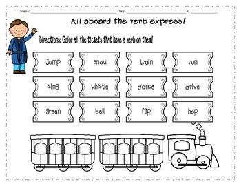 parts of speech ( Polar Express Themed)