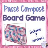 Passé composé board game with regular and irregular avoir and être verbs