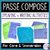 French Passé composé notes and activities packet