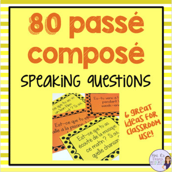 French passé composé speaking activity with avoir and être by Mme R's French Resources