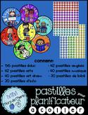 pastilles de spécialités pour planificateur (agenda)