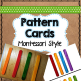 pattern cards with colored ice block sticks