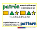 pattern/patron geom 1-way blue/verde